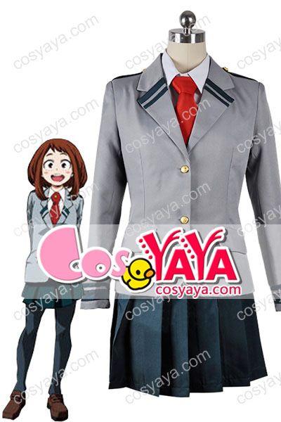 僕のヒーローアカデミアヒロイン麗日お茶子制服コスプレ衣装