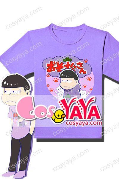 おそ松萌えプリント付きT-シャツ