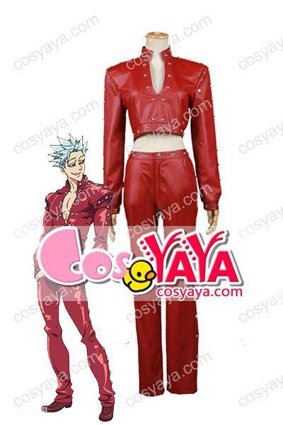 七つの大罪バン赤いコスプレ衣装