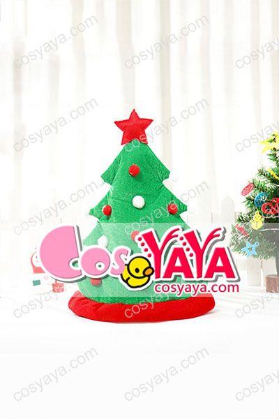 クリスマスツリーハット仮装