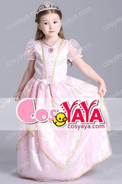 子供ピンクディズニー姫様風コスチューム