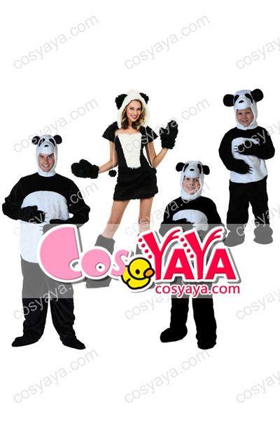 パンダ子供仮装コスチューム