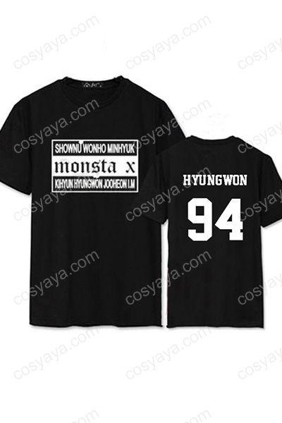 Monsta Xコンサート仮装衣装Tシャツ