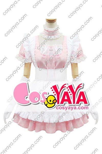 メイド服 ピンク かわいい