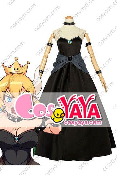 クッパ姫 コスプレ衣装 ドレス